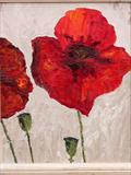 poppy by fiona drummond, Painting, Oil on Board